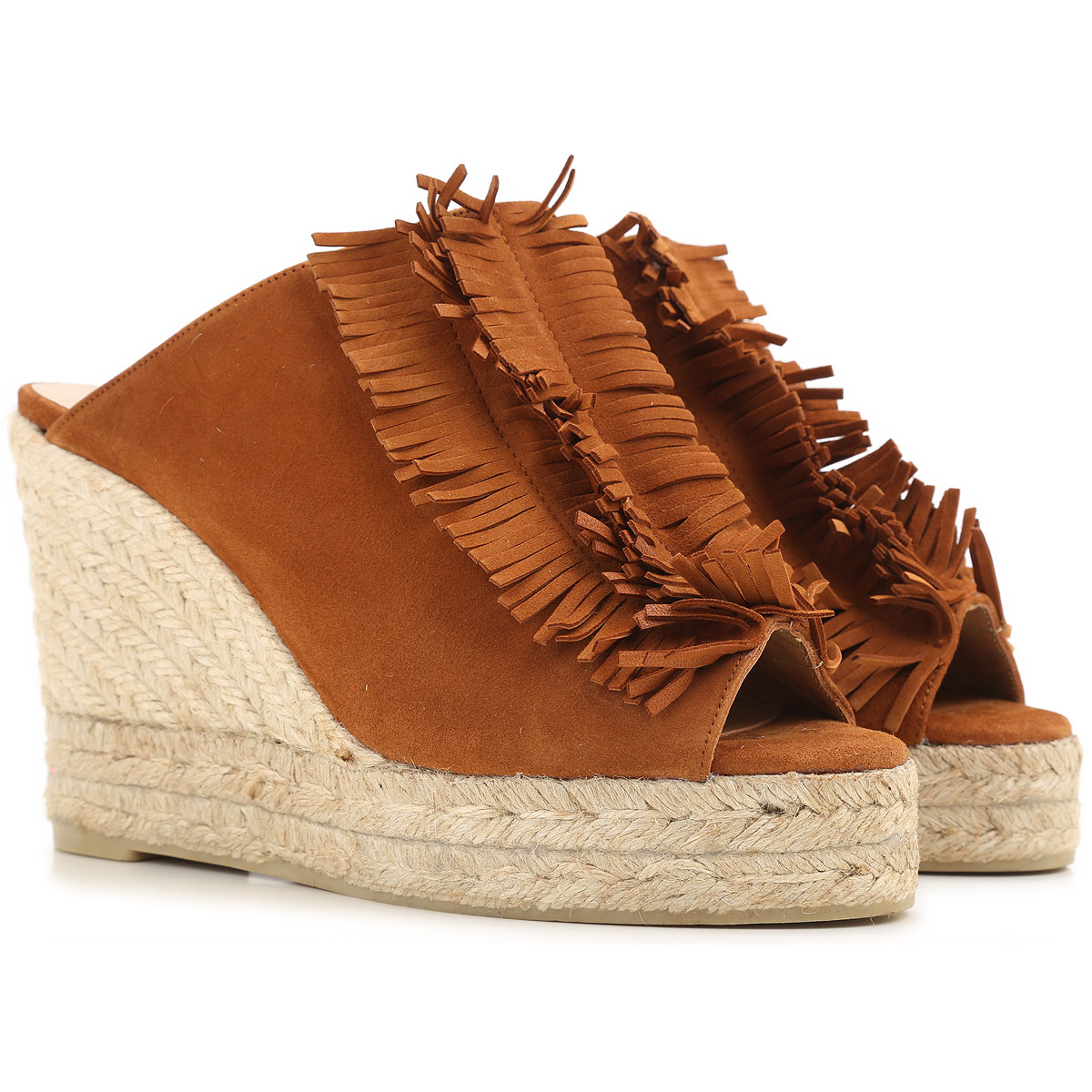 Castaner Wedges for Women On Sale in Outlet, Rust, Suede leather, 2019, 5 6