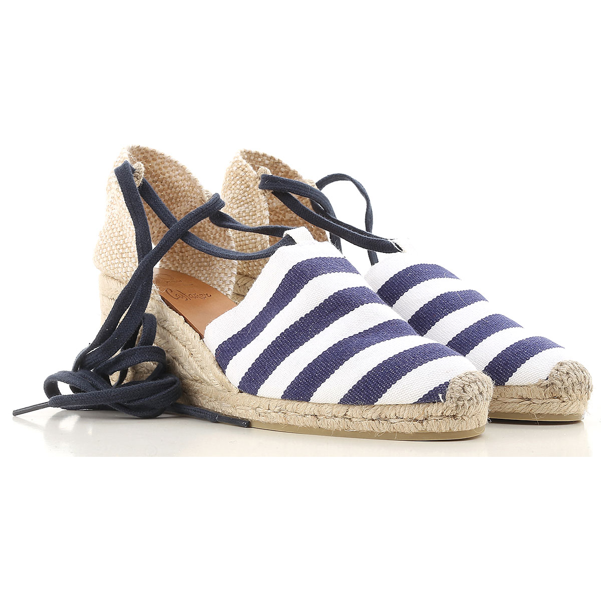 Castaner Wedges for Women On Sale in Outlet, Blue, Rope, 2017, 7 8