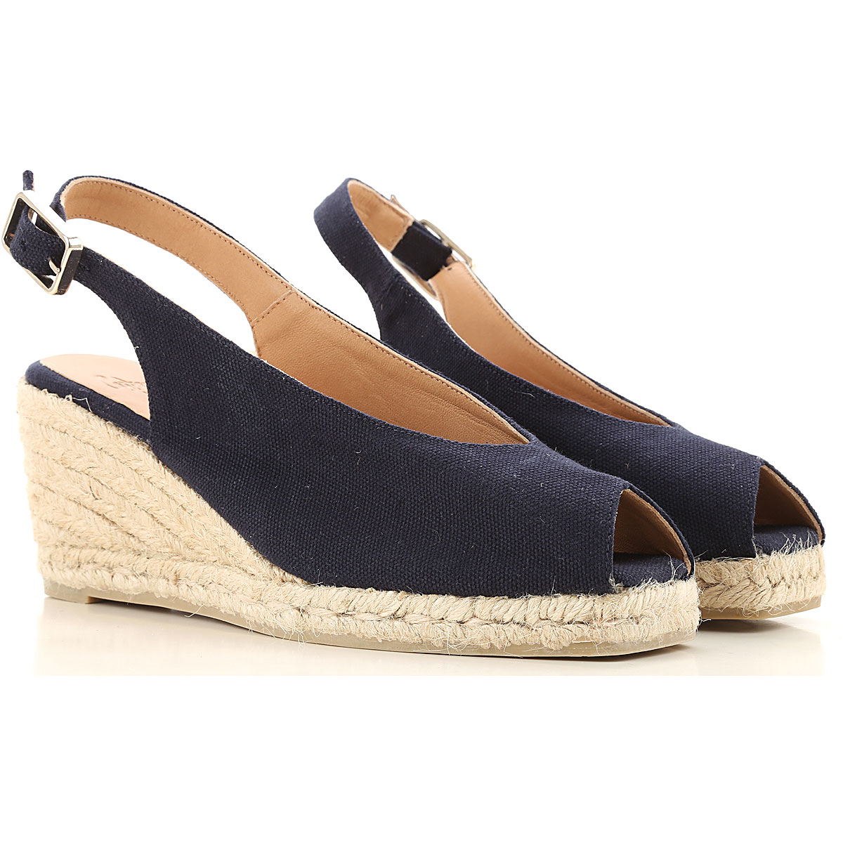 Castaner Sandals for Women On Sale in Outlet, Blue Navy, Canvas, 2019, 6