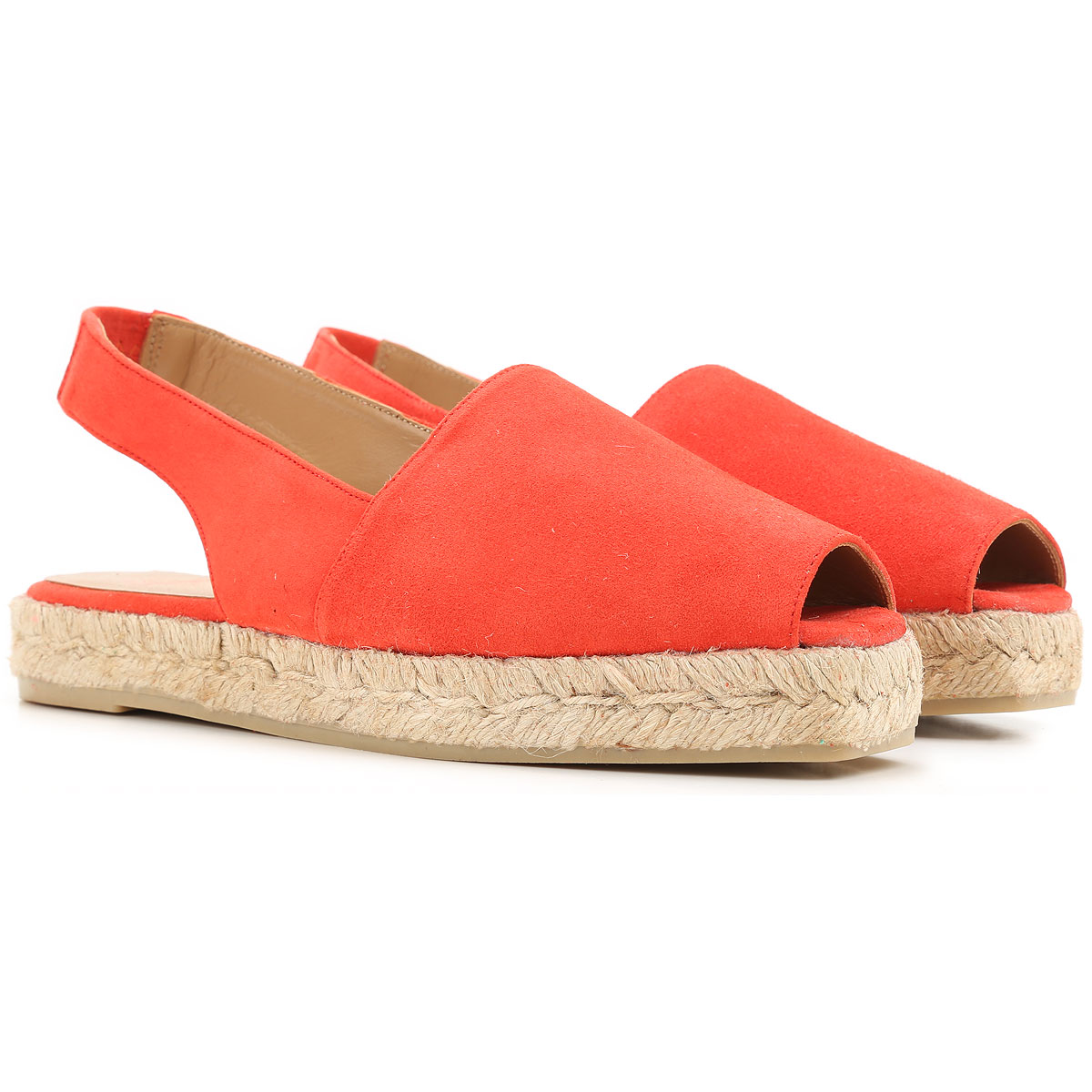 Castaner Wedges for Women On Sale in Outlet, Red, Fabric, 2019, 6