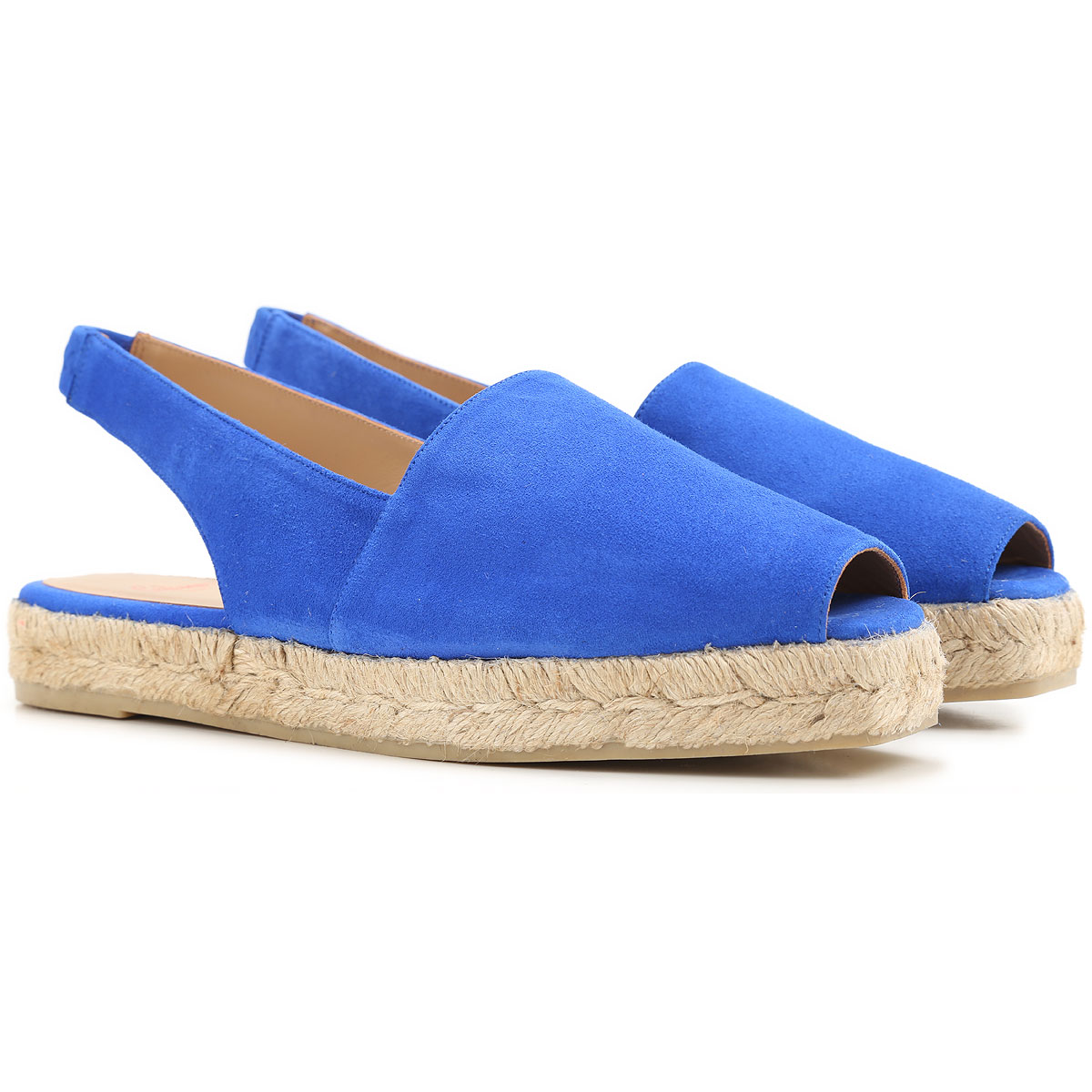 Castaner Sandals for Women On Sale in Outlet, Electric Blue, Suede leather, 2019, 5 6