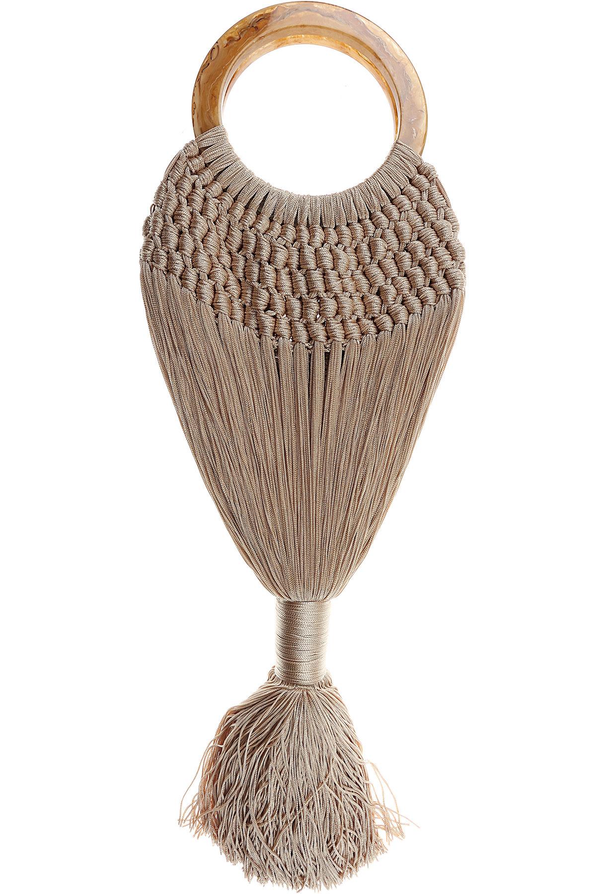 Image of Cult Gaia Handbags, Champagne, Fabric, 2017