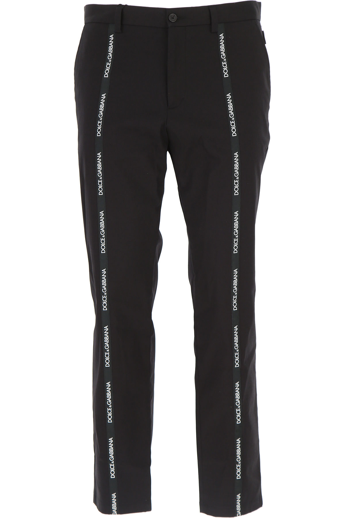 Dolce & Gabbana Pants for Men On Sale, Black, Cotton, 2017, 30 32