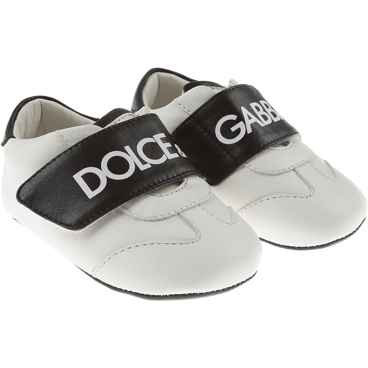 Dolce & Gabbana Baby Shoes for Boys On Sale, White, Leather, 2019, 1C 2C 3.5C