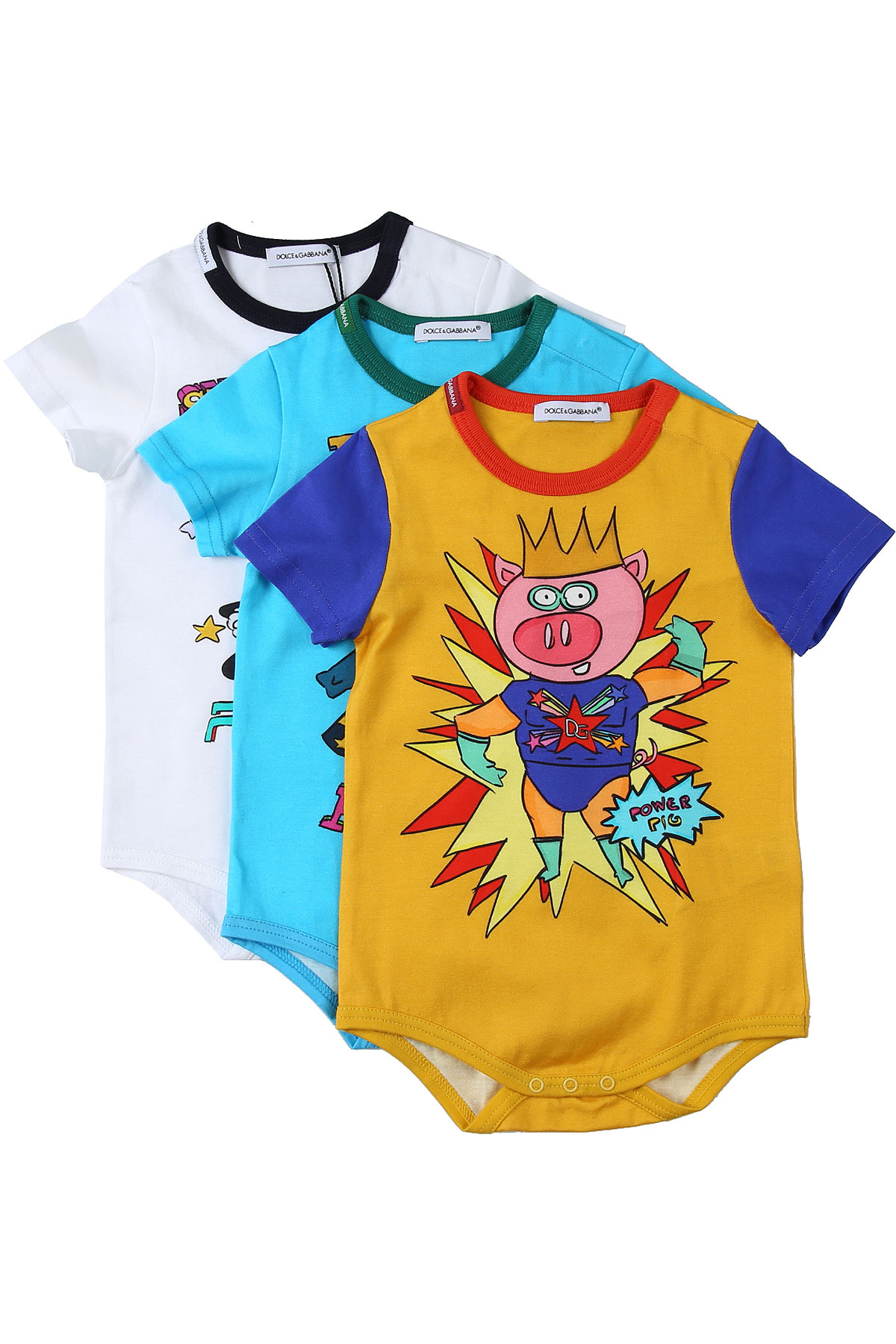 Dolce & Gabbana Baby Bodysuits & Onesies for Boys On Sale in Outlet, Multicolor, Cotton, 2019, 12 M 18M 24M 3M 6M