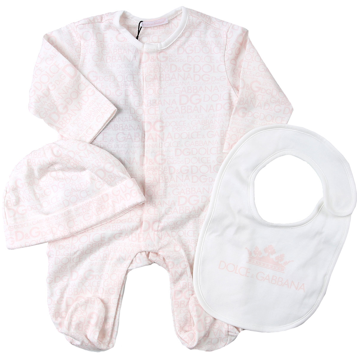 Dolce & Gabbana Baby Bodysuits & Onesies for Girls On Sale, Pink, Cotton, 2019, 3M 9M