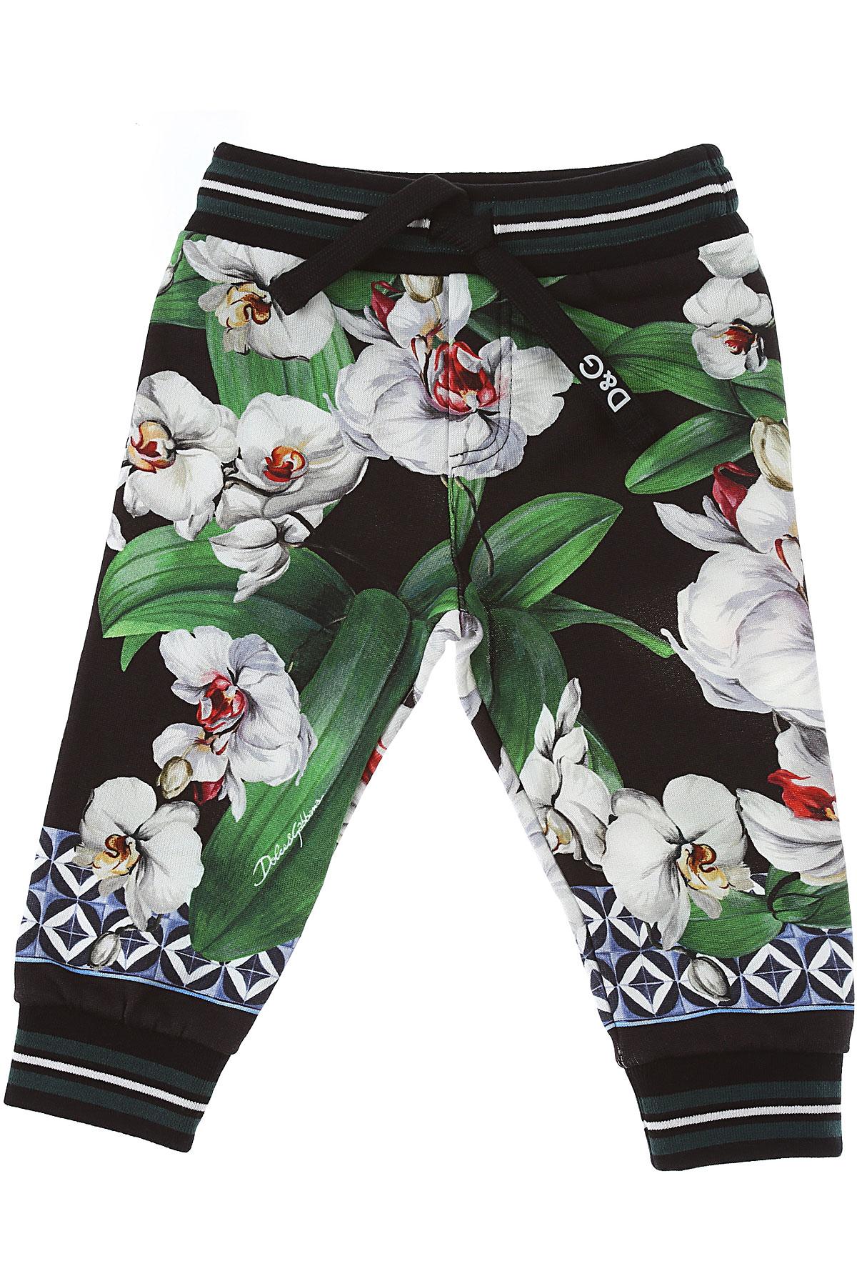 Dolce & Gabbana Baby Pants for Girls On Sale, Black, Cotton, 2019, 12M 18M 24M 30M 9M