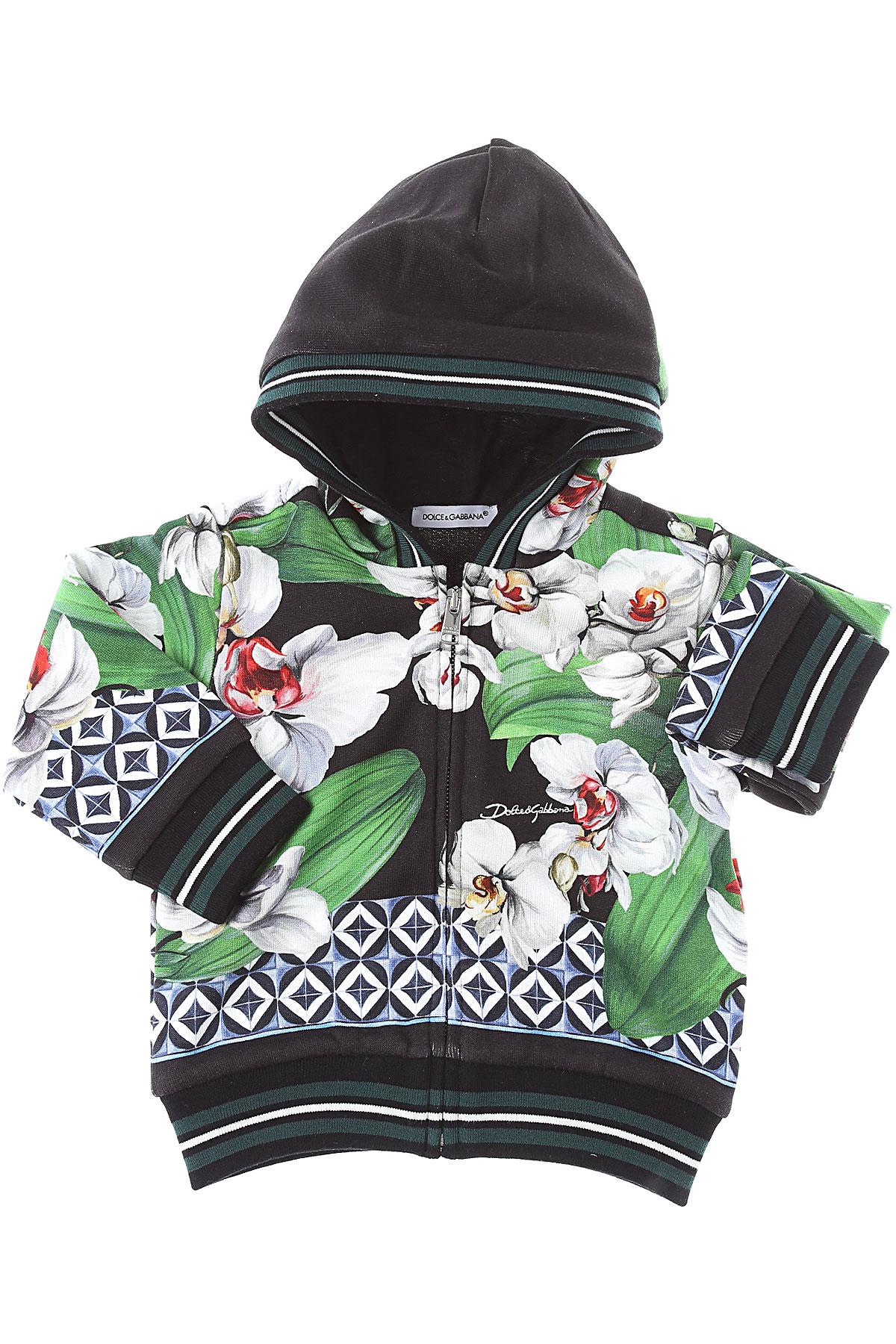 Dolce & Gabbana Baby Sweatshirts & Hoodies for Girls On Sale, Green, Cotton, 2019, 12M 18M 24M 2Y 9M