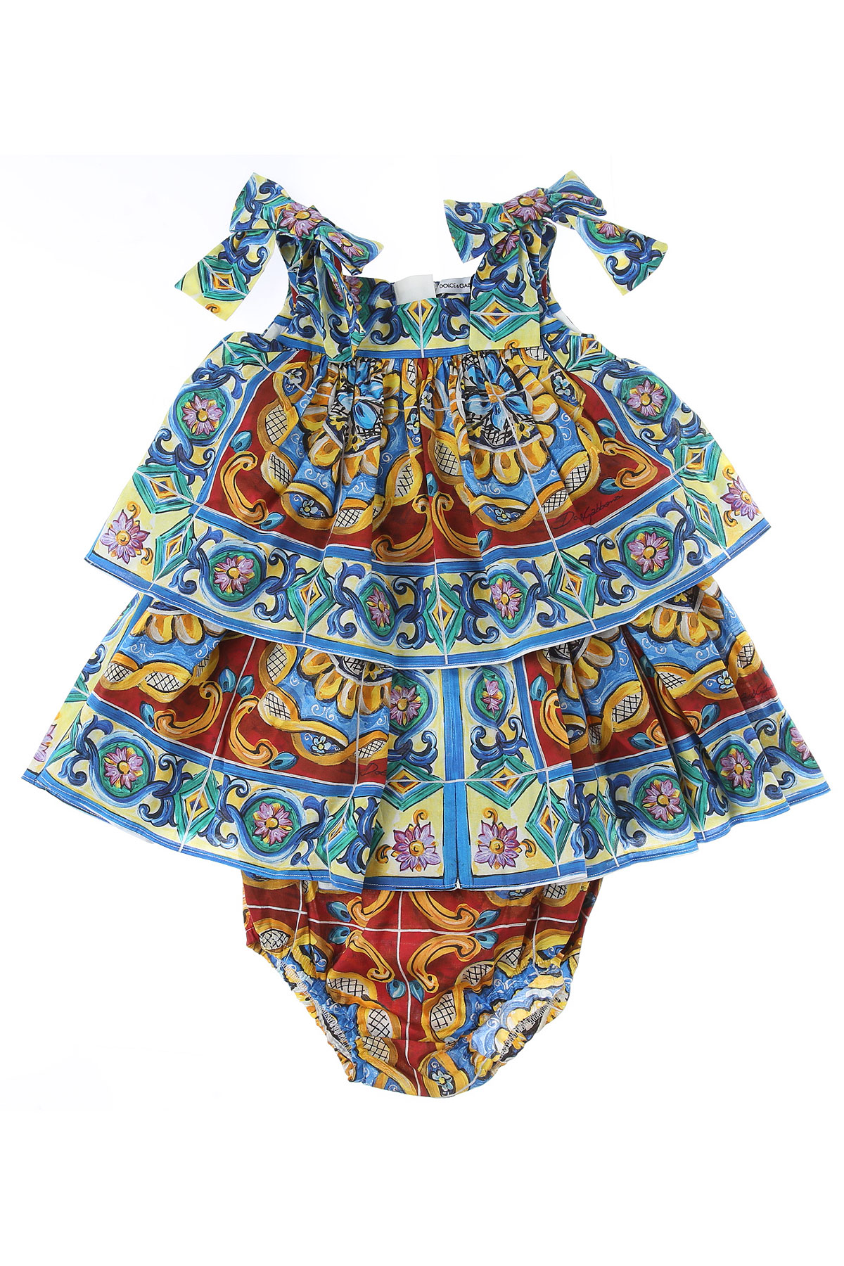 Dolce & Gabbana Baby Dress for Girls On Sale in Outlet, Multicolor, Cotton, 2019, 12M 18M 24M 9M