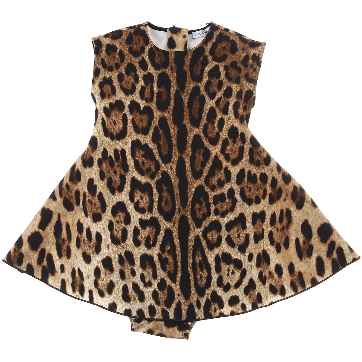 Dolce & Gabbana Baby Dress for Girls On Sale, Leopard, Cotton, 2019, 12M 18M 24M