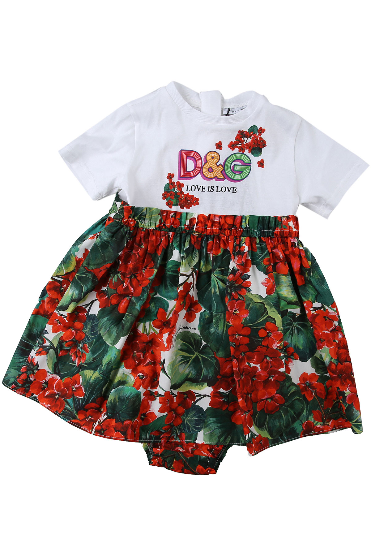 Dolce & Gabbana Baby Dress for Girls On Sale, Red, Cotton, 2019, 12M 18M 24M 30M 9M