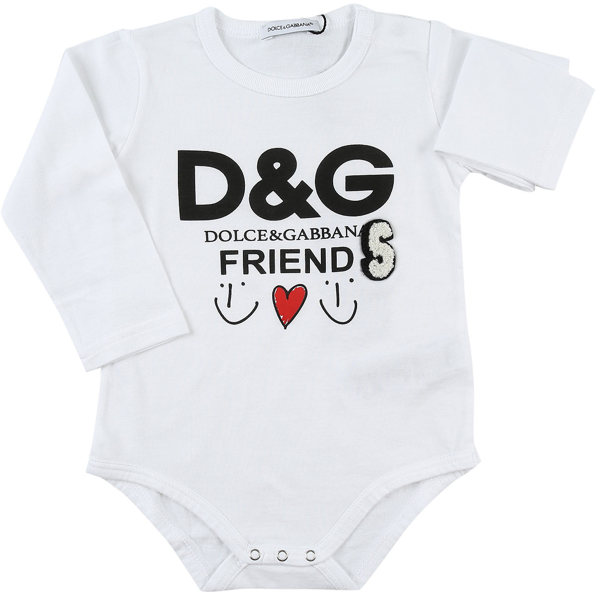Dolce & Gabbana Baby Bodysuits & Onesies for Girls On Sale in Outlet, White, Cotton, 2019, 24M 9M