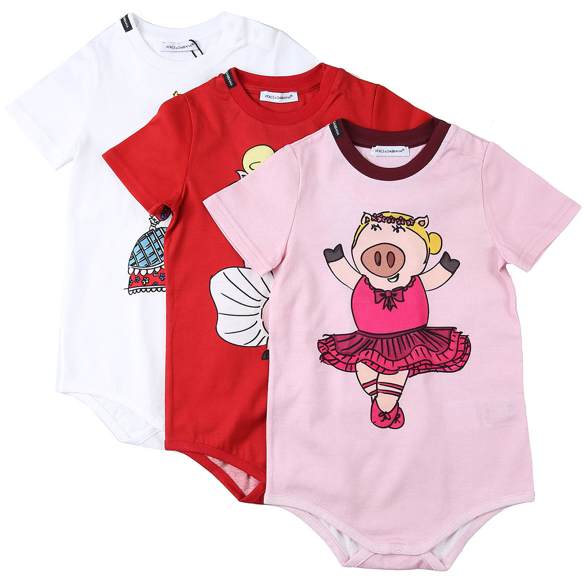 Dolce & Gabbana Baby Bodysuits & Onesies for Girls On Sale in Outlet, Multicolor, Cotton, 2019, 12M 18M 24M 3M 6M