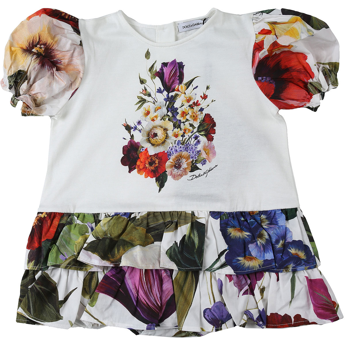 Dolce & Gabbana Baby Bodysuits & Onesies for Girls On Sale in Outlet, White, Cotton, 2019, 12M 18M 9M
