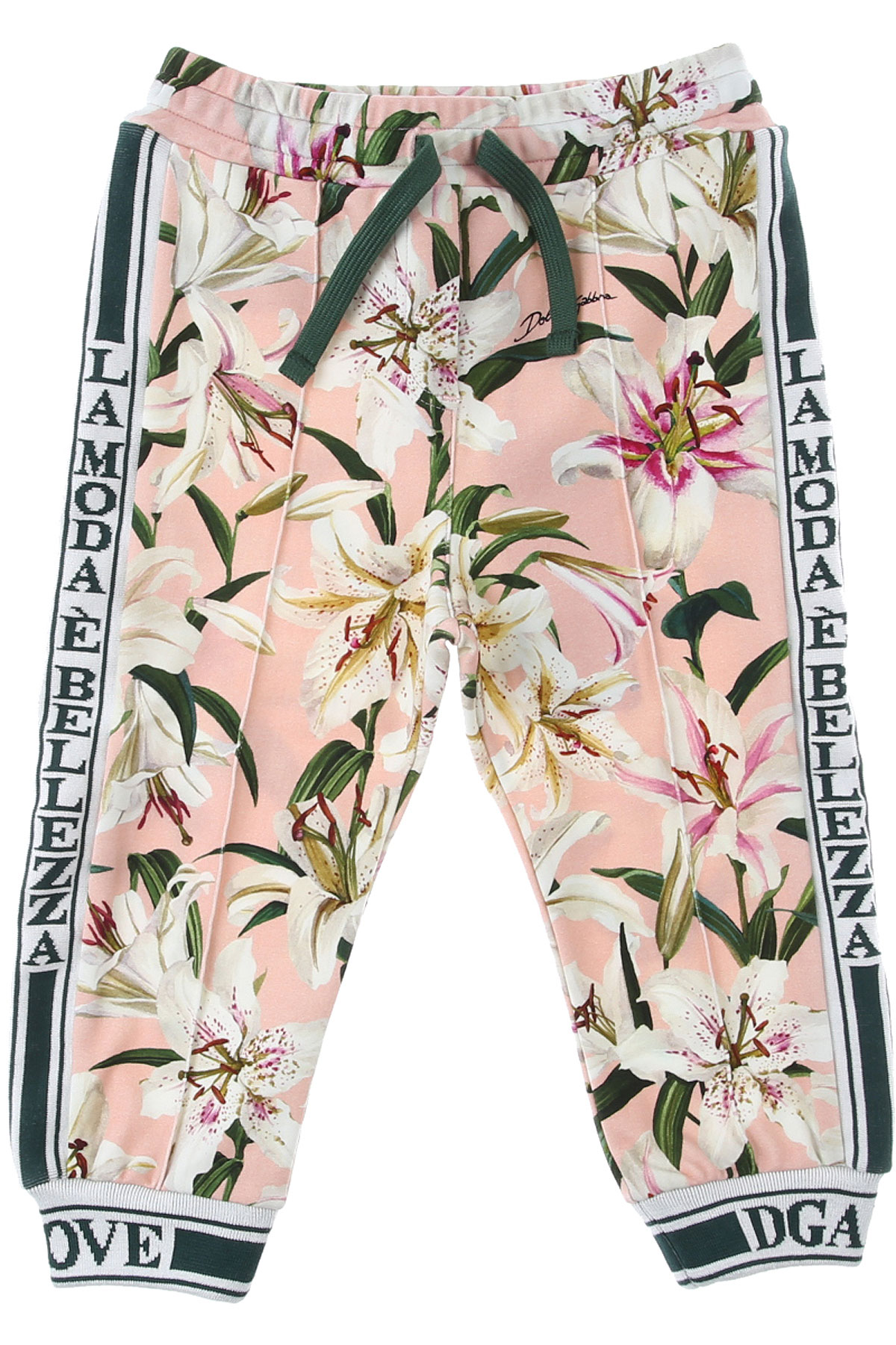 Dolce & Gabbana Baby Sweatpants for Girls On Sale, Pink, Cotton, 2019, 12M 18M 30M