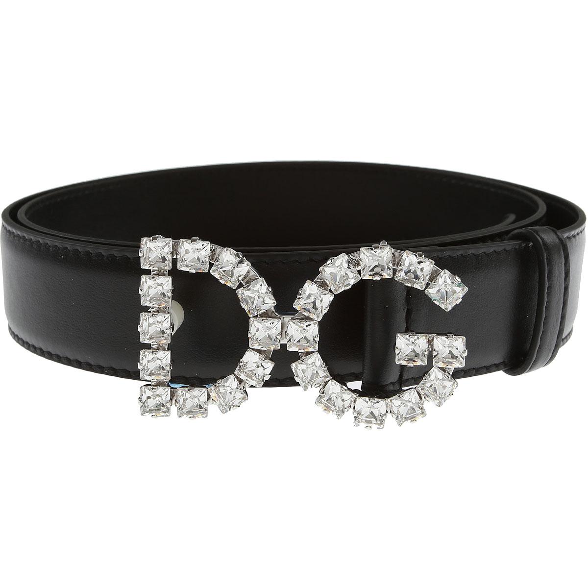 Dolce & Gabbana Womens Belts, Black, Leather, 2017, 32 inches - 80 cm 34 inches - 85 cm 36 inches - 90 cm 38 inches - 95 cm