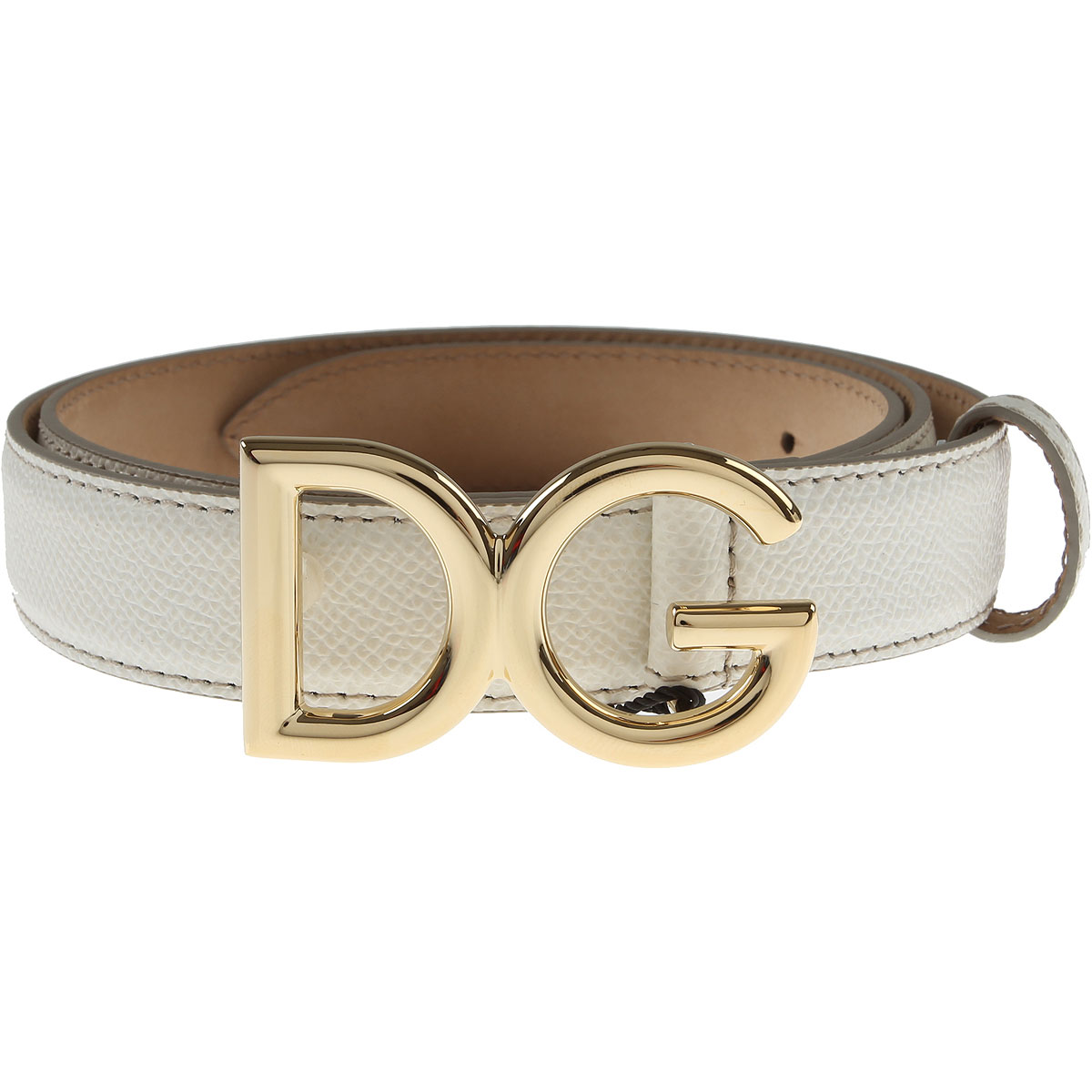 Dolce & Gabbana Womens Belts, White, Leather, 2017, 30 inches - 75 cm 34 inches - 85 cm