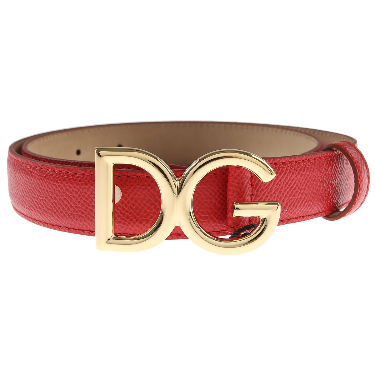 Dolce & Gabbana Womens Belts, Red, Leather, 2017, 32 inches - 80 cm 36 inches - 90 cm