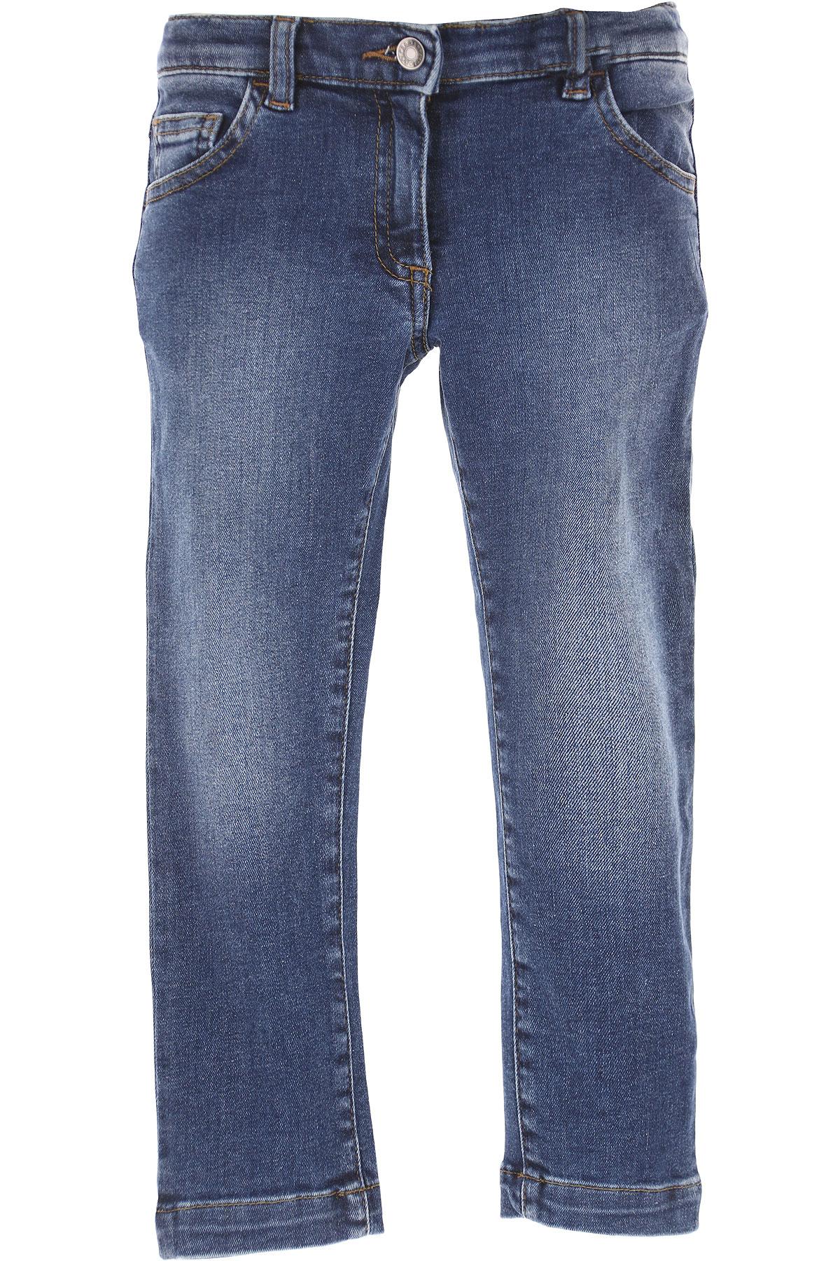 Dolce & Gabbana Kids Jeans for Girls On Sale in Outlet, Denim, Cotton, 2017, 10Y 4Y 6Y