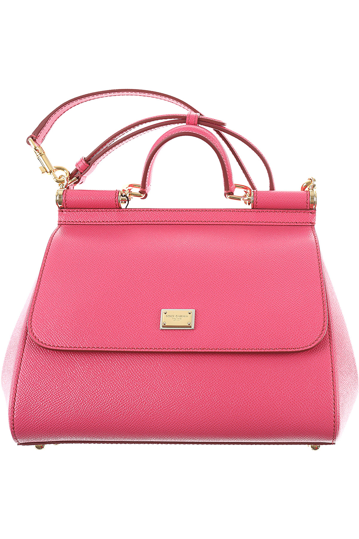 Dolce & Gabbana Tote Bag, Pink, Leather, 2017