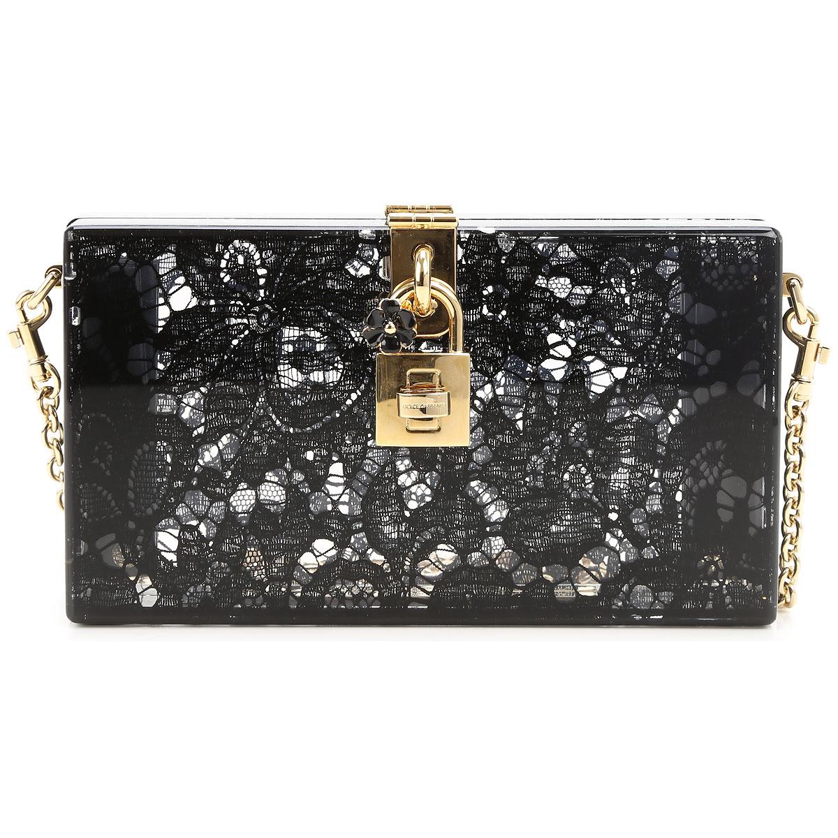 Dolce & Gabbana Clutch Bag, Black, PVC, 2017