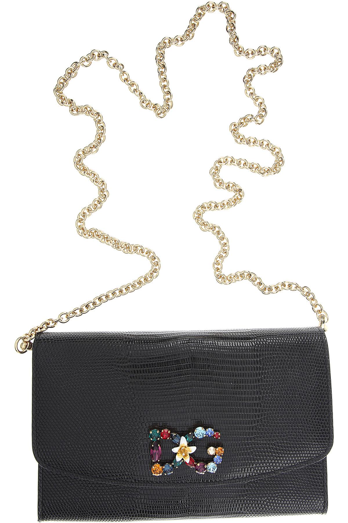 Dolce & Gabbana Clutch Bag, Black, Leather, 2017