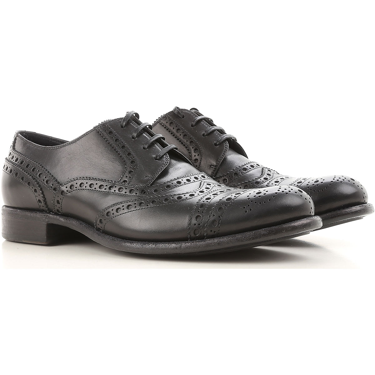 Dolce & Gabbana Brogue Shoes On Sale in Outlet, Black, Leather, 2017, 10.5 9