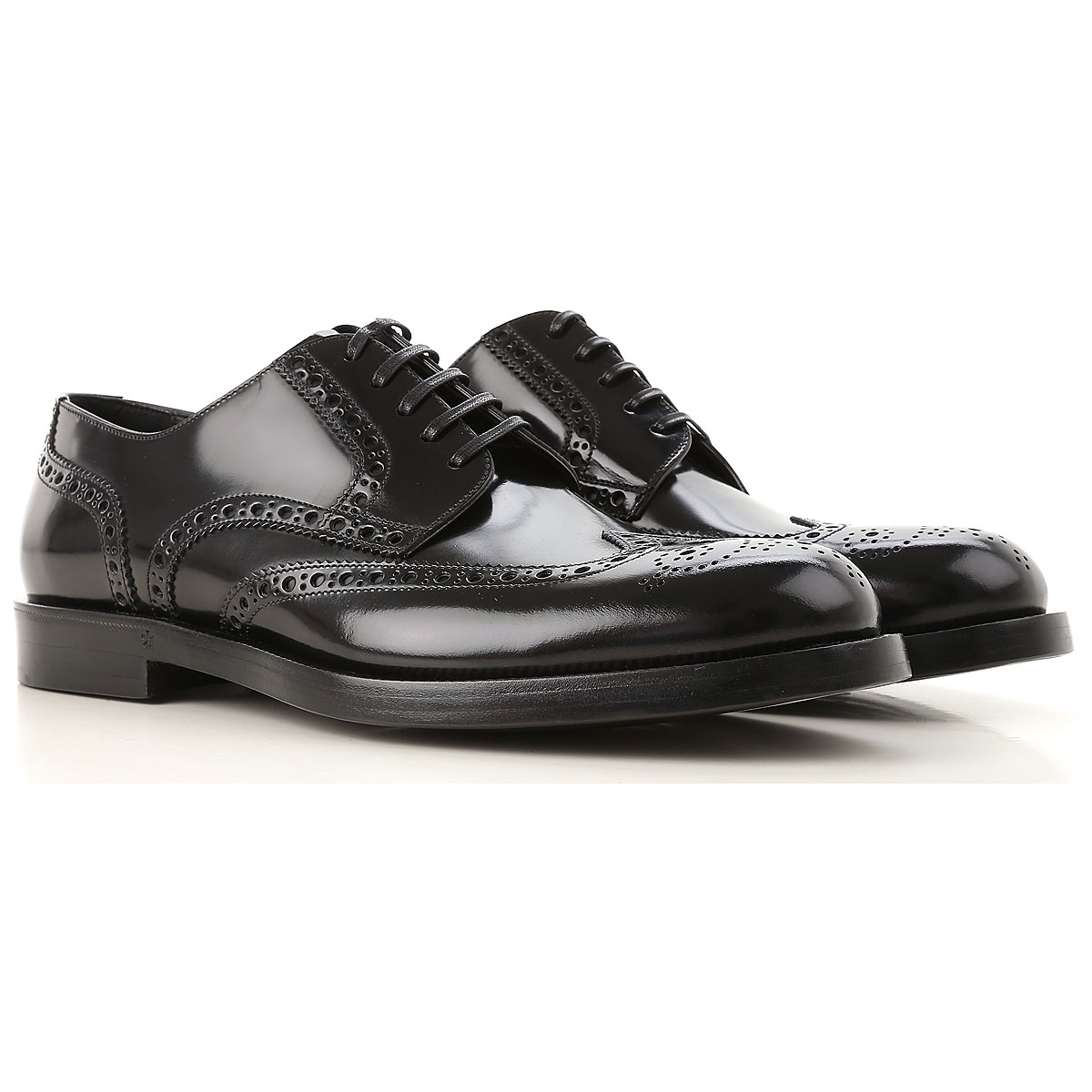 Dolce & Gabbana Brogue Shoes, Black, Leather, 2017, 10 10.5 11.5 7.5 8 8.5