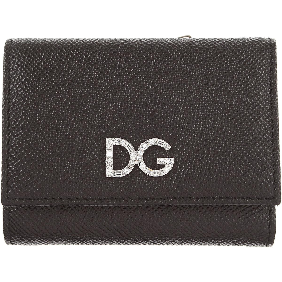 Dolce & Gabbana Womens Wallets, Black, Leather, 2017
