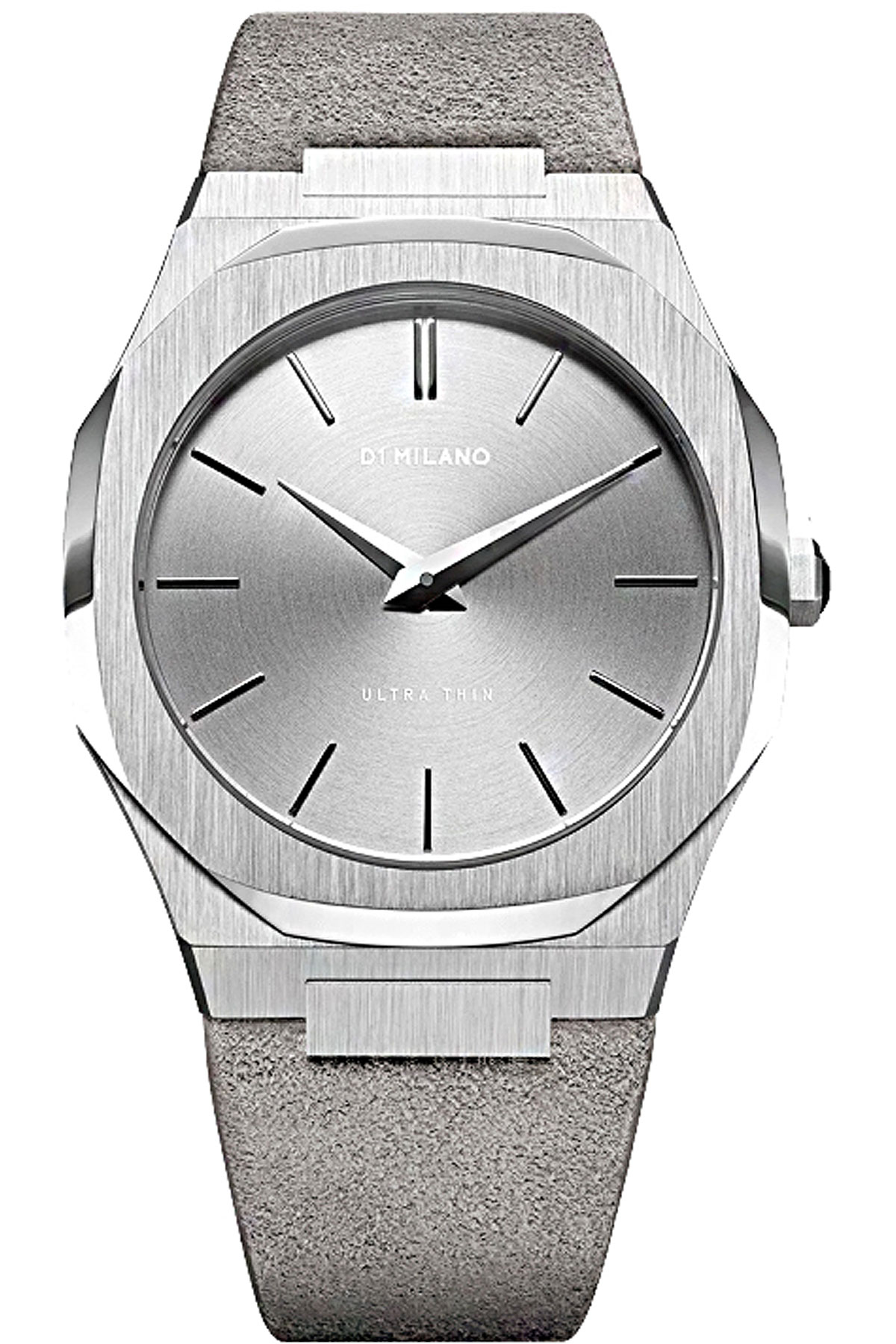 D1 Milano Watch for Men, Grey, Suede leather, 2019