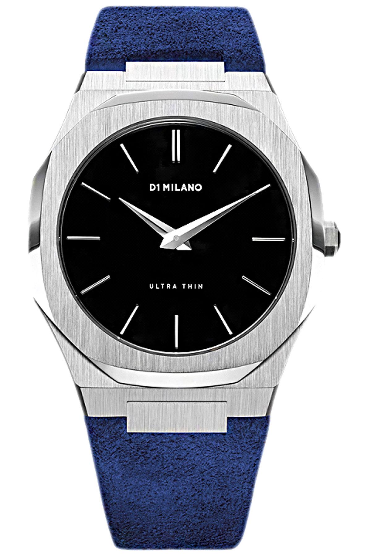 D1 Milano Watch for Men, Capri Blue, Suede leather, 2019