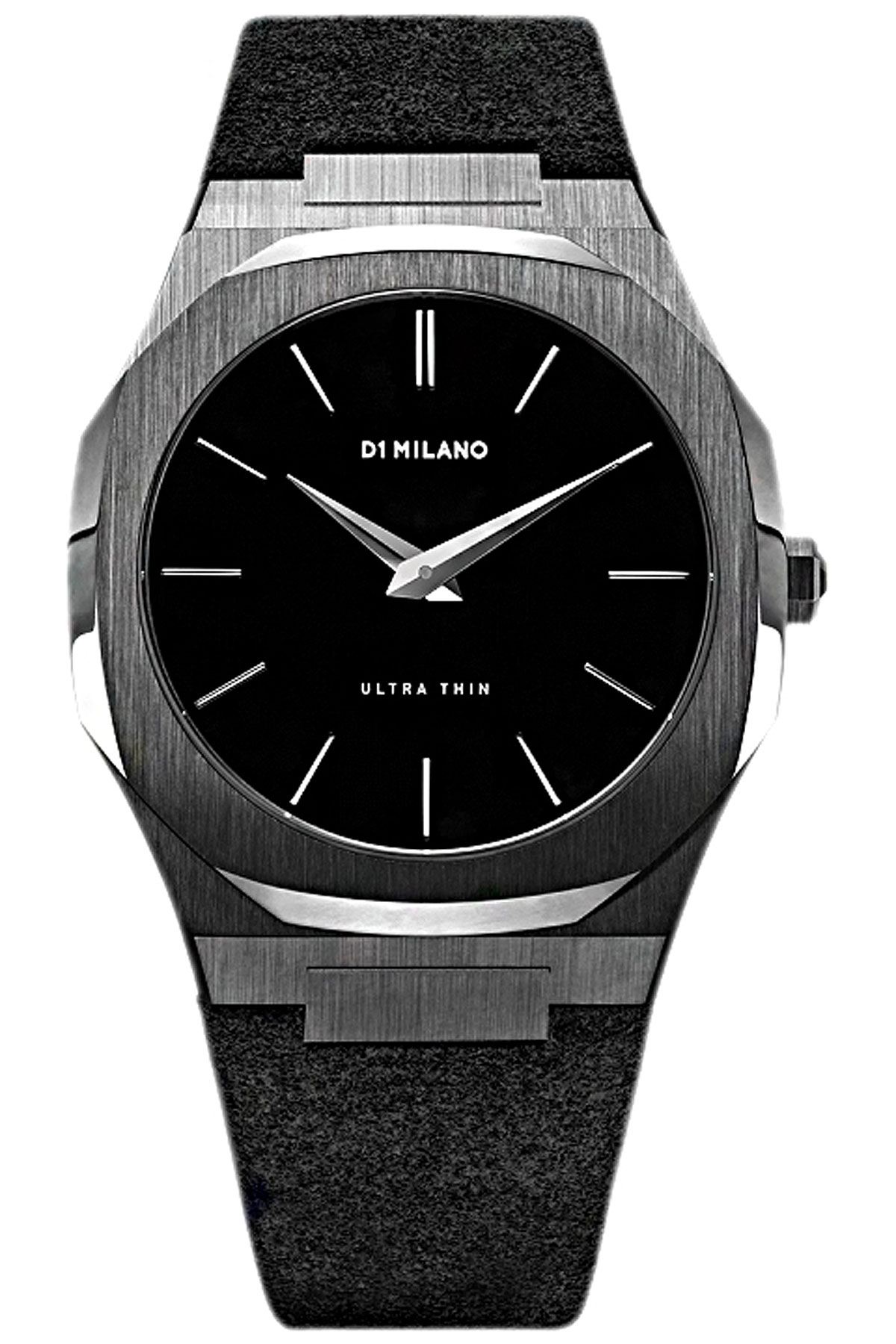 D1 Milano Watch for Men, Black, Suede leather, 2019