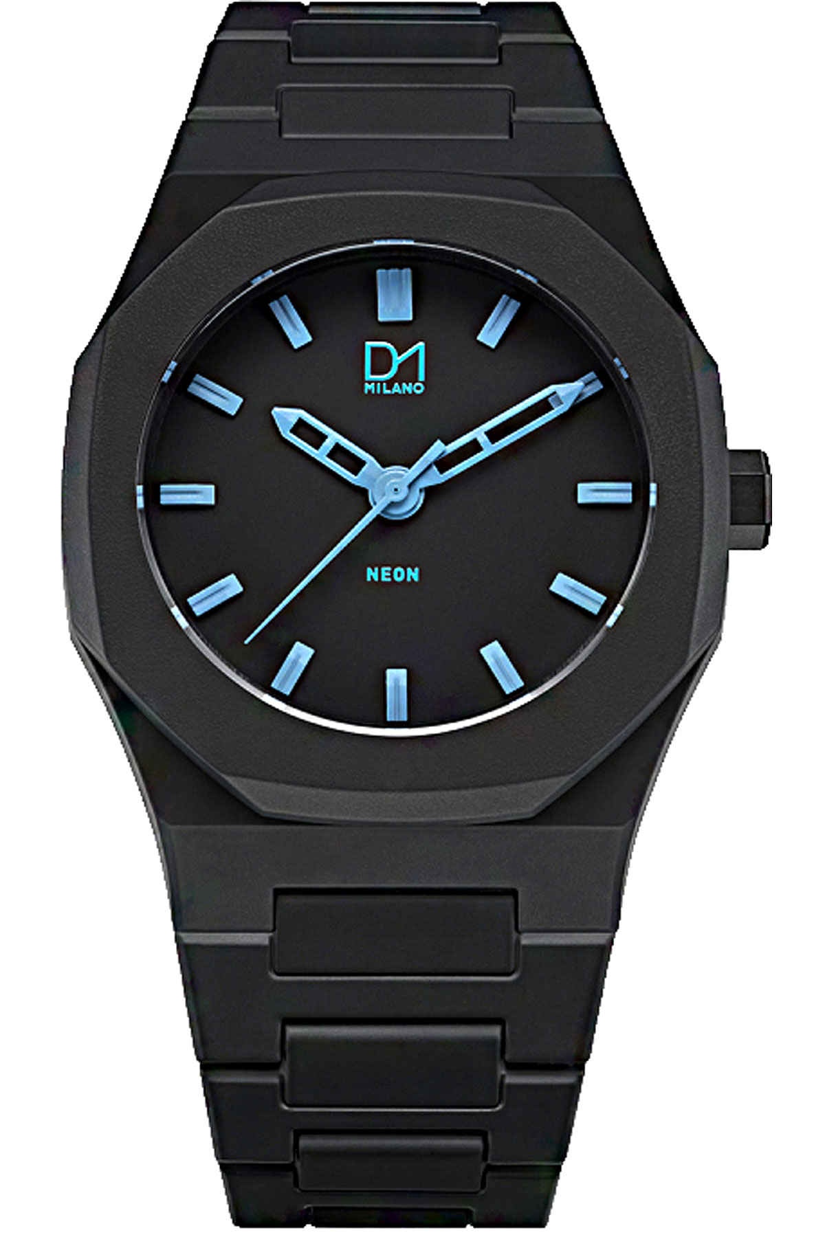 D1 Milano Watch for Men, Black, Polycarbonate, 2019
