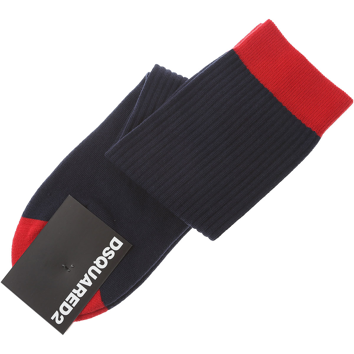 Image of Dsquared2 Socks Socks for Men On Sale in Outlet, Blue Navy, Cotton, 2017, IT 42 - 43 IT 44 - 45