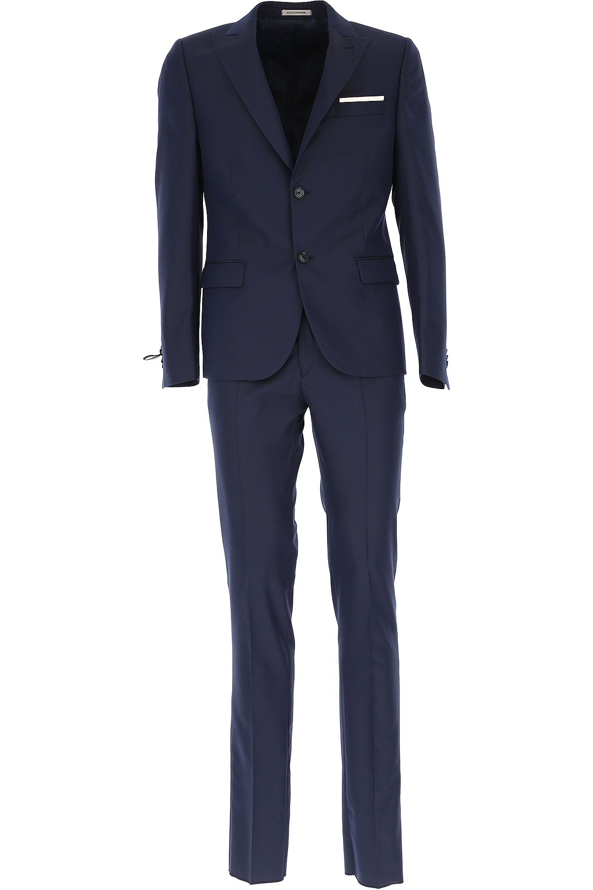 Image of Daniele Alessandrini Men's Suit On Sale, Dark Blue, polyester, 2017, L XL