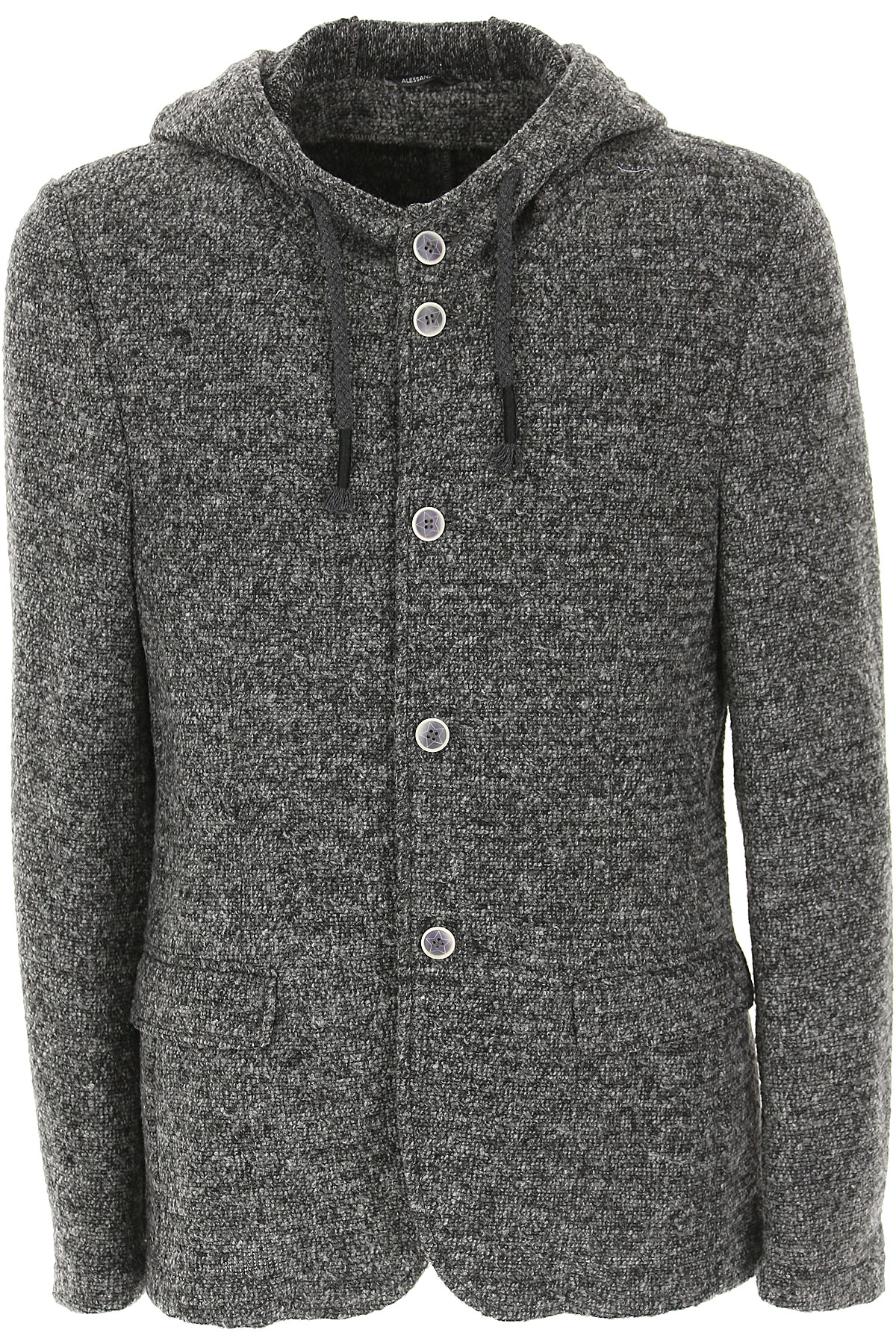 Image of Daniele Alessandrini Blazer for Men, Sport Coat, Grey Melange, polyester, 2017, L M S XL