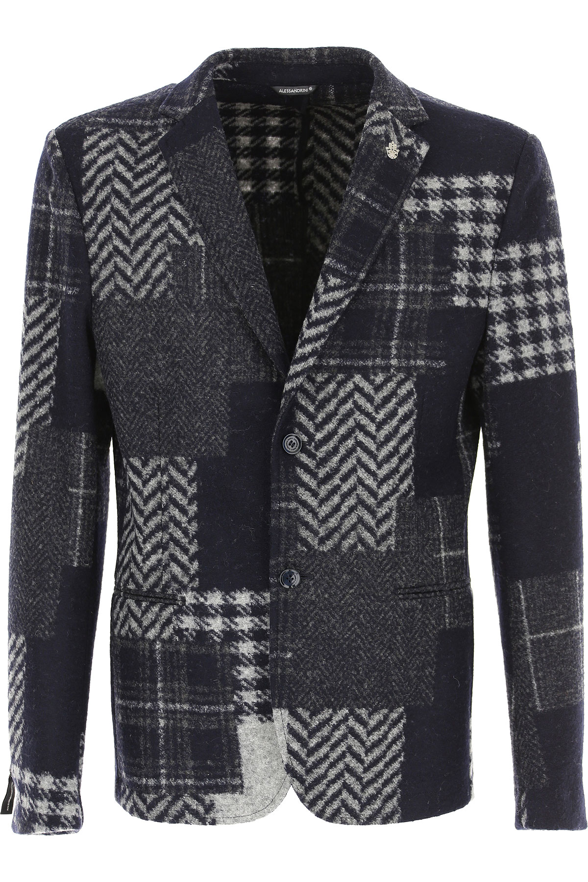 Daniele Alessandrini Blazer for Men, Sport Coat On Sale, Navy Blue, Acrylic, 2019, M S XL XXL