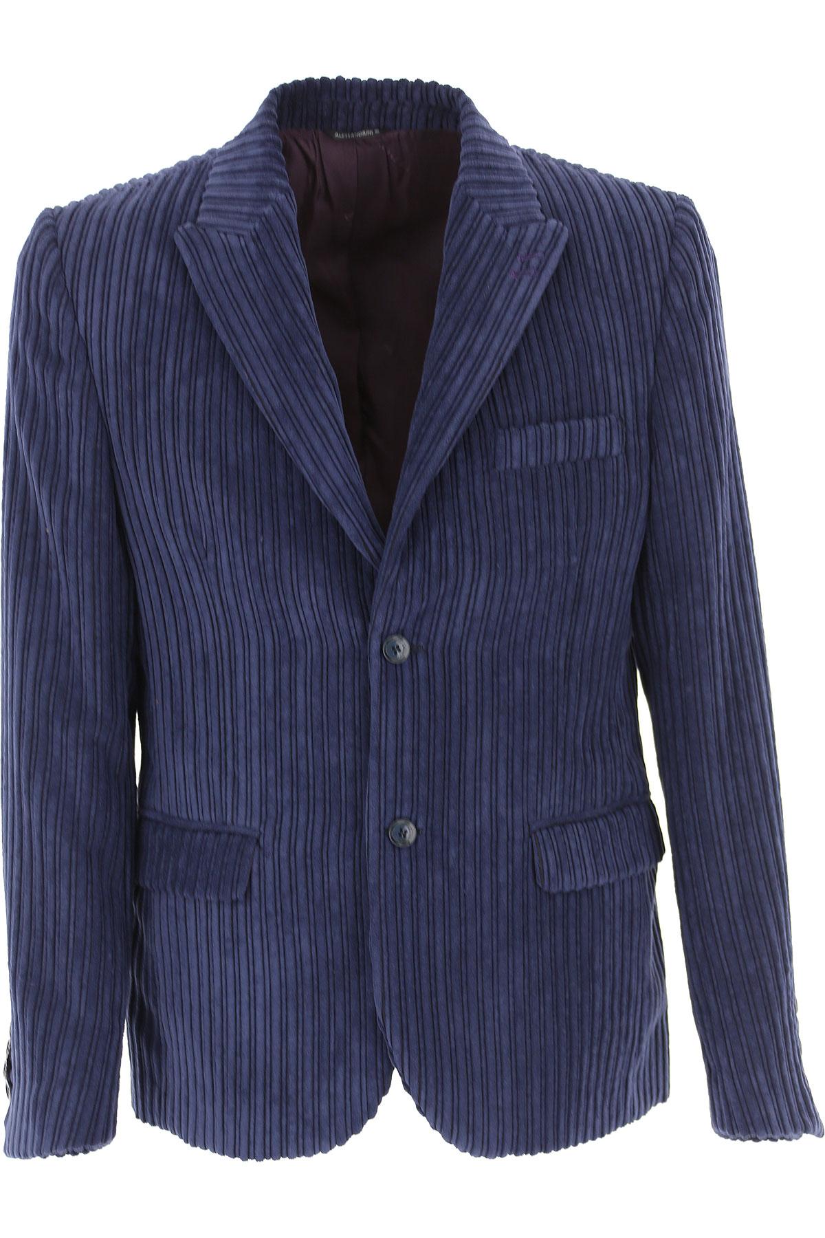 Daniele Alessandrini Blazer for Men, Sport Coat On Sale, Bluette, polyestere, 2019, L M XL