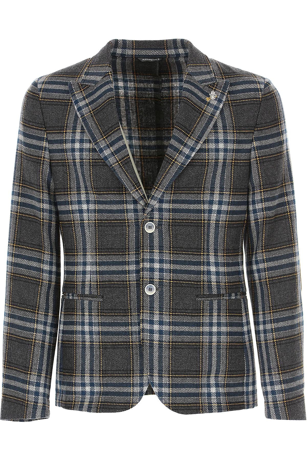Daniele Alessandrini Blazer for Men, Sport Coat On Sale, Grey, Wool, 2019, L M XL