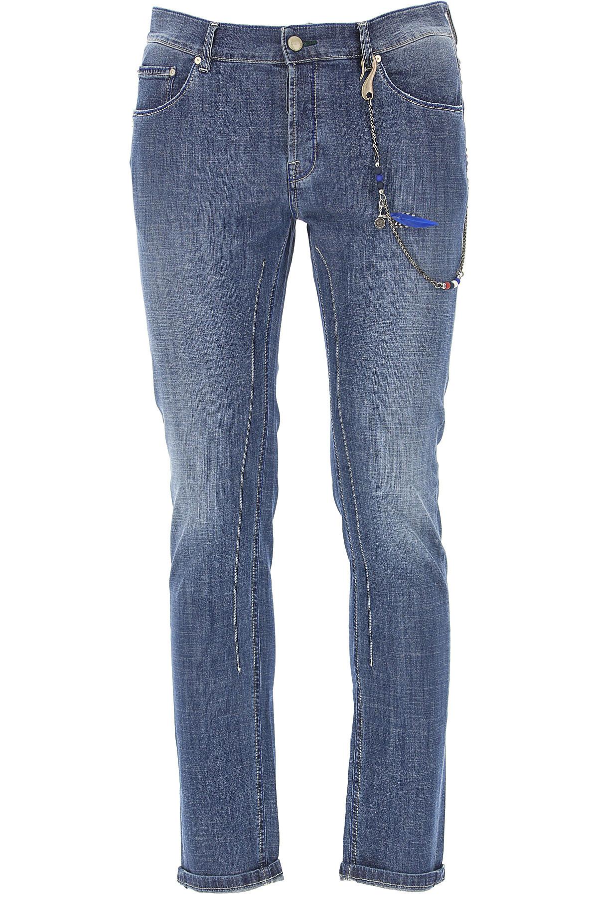 Daniele Alessandrini Jeans, Denim Blue, Cotton, 2017, 31 32 33 34 36