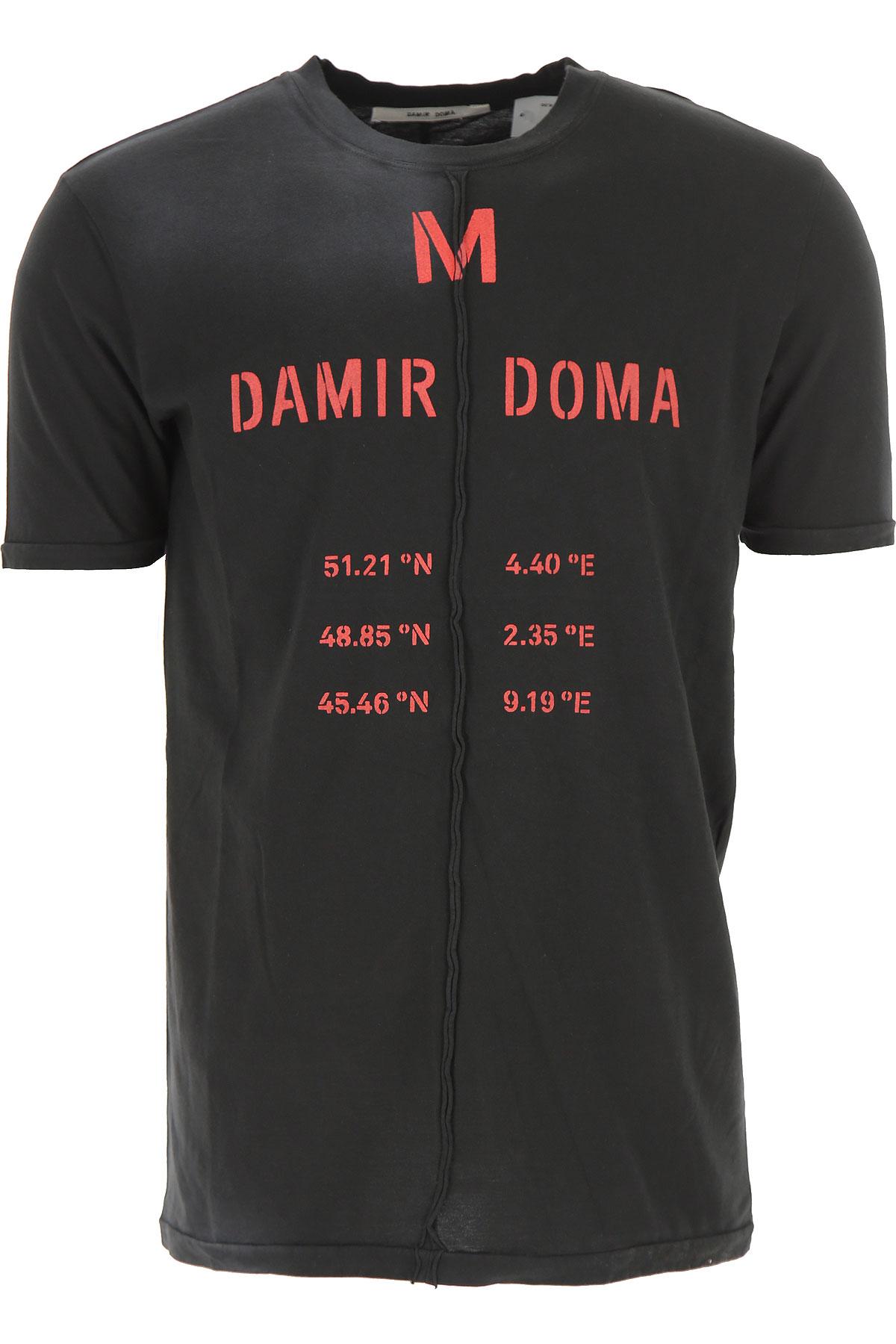 Image of Damir Doma T-Shirt for Men, Black, Cotton, 2017, L M S XL