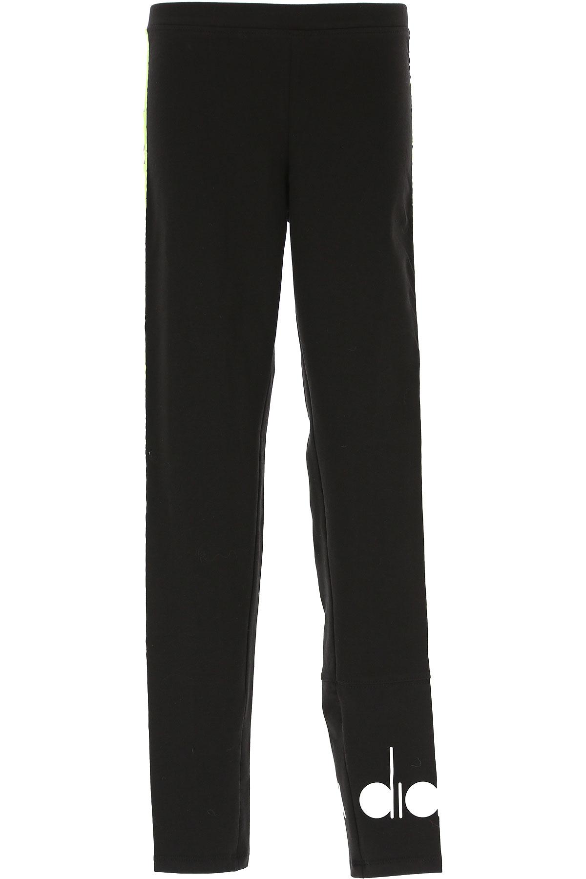 Diadora Kids Pants for Girls On Sale, Black, Cotton, 2019, 10Y 12Y 14Y 8Y