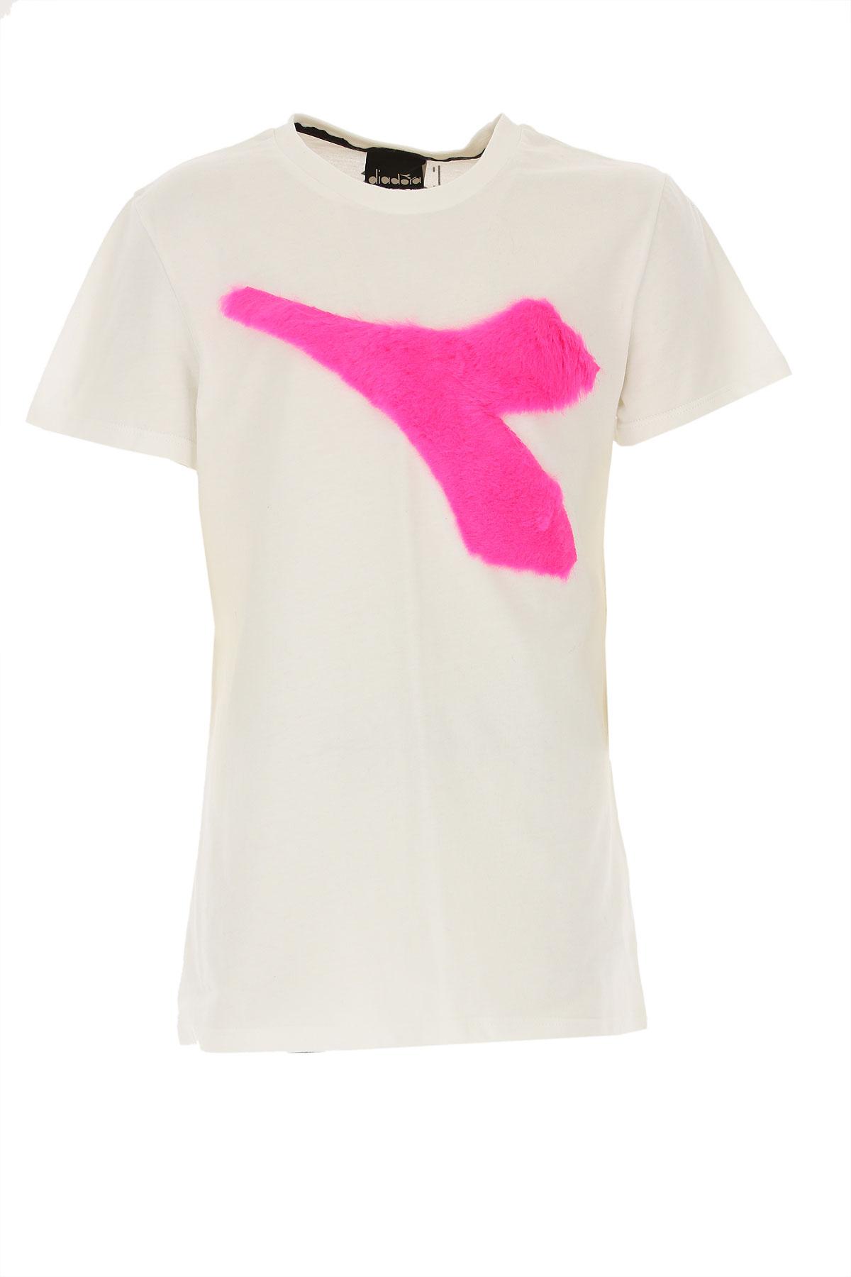 Diadora Kids T-Shirt for Girls On Sale, White, Cotton, 2019, 12Y 14Y 8Y
