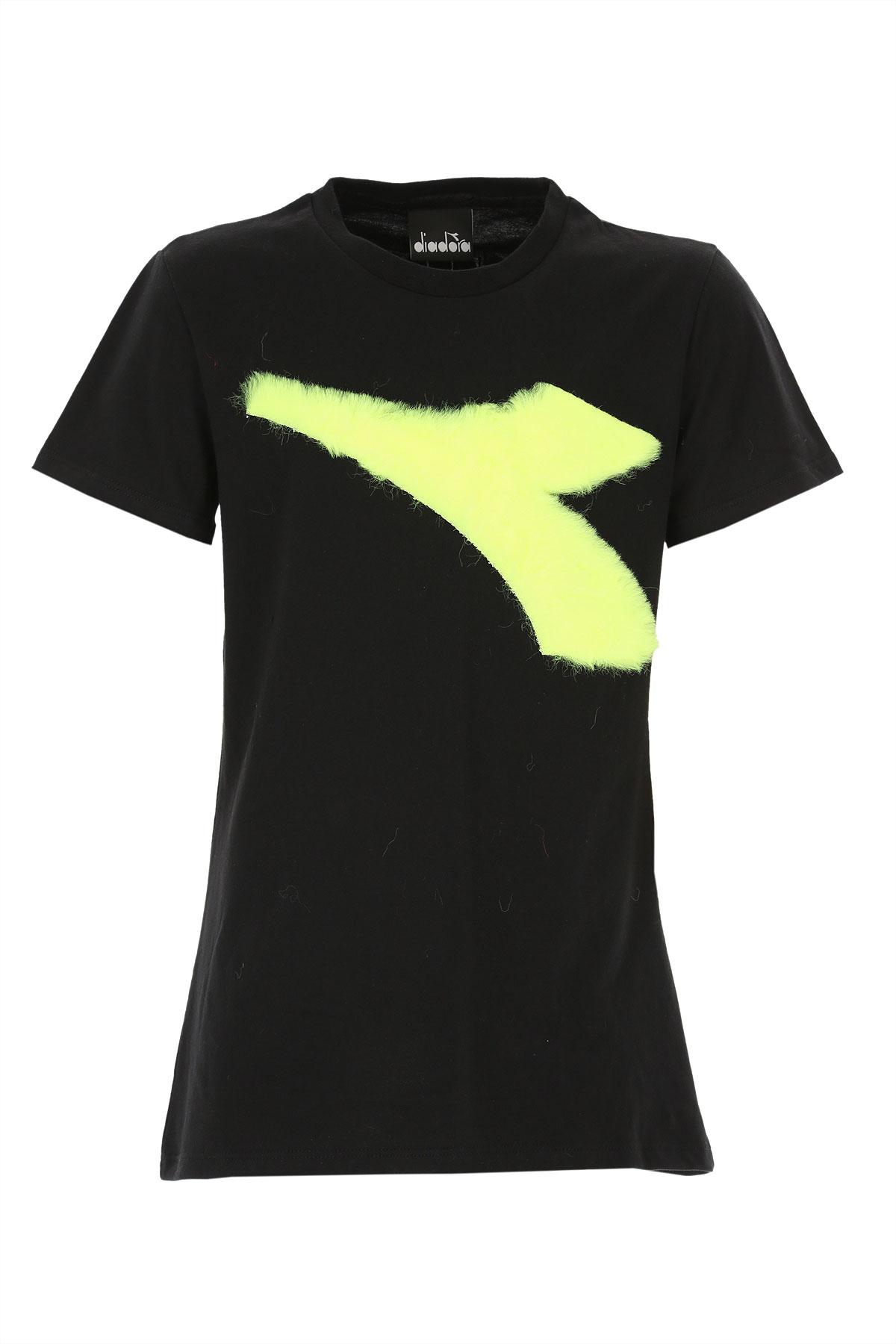 Diadora Kids T-Shirt for Girls On Sale, Black, Cotton, 2019, 10Y 12Y 14Y