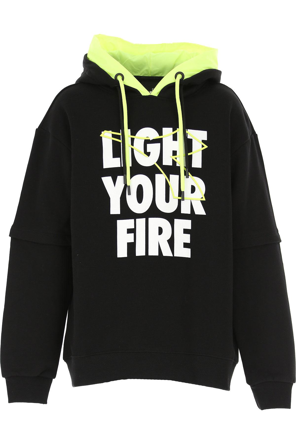 Diadora Kids Sweatshirts & Hoodies for Boys On Sale, Black, Cotton, 2019, 10Y 12Y 14Y