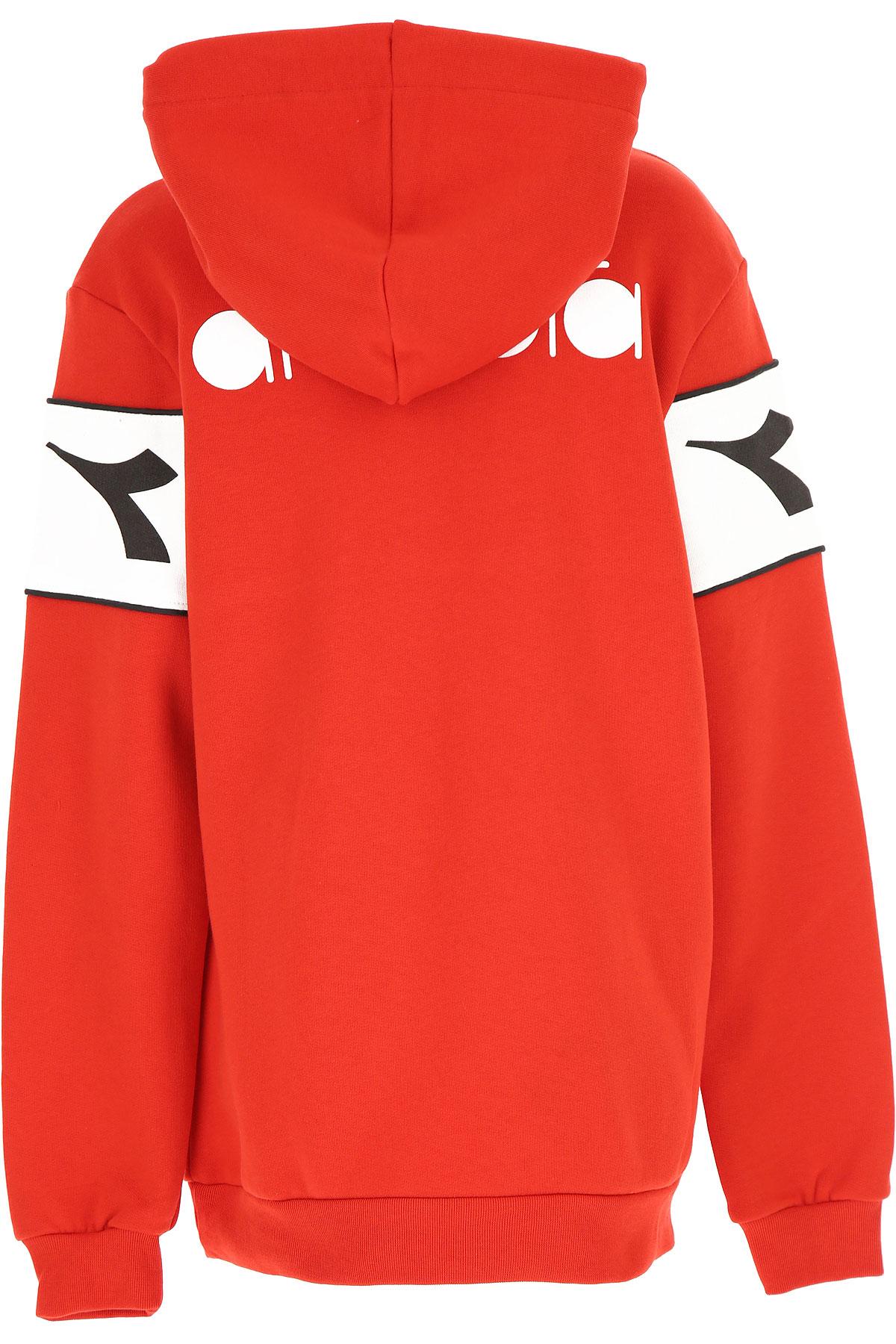 Diadora Kids Sweatshirts & Hoodies for Boys On Sale, Red, Cotton, 2019, 10Y 12Y 14Y