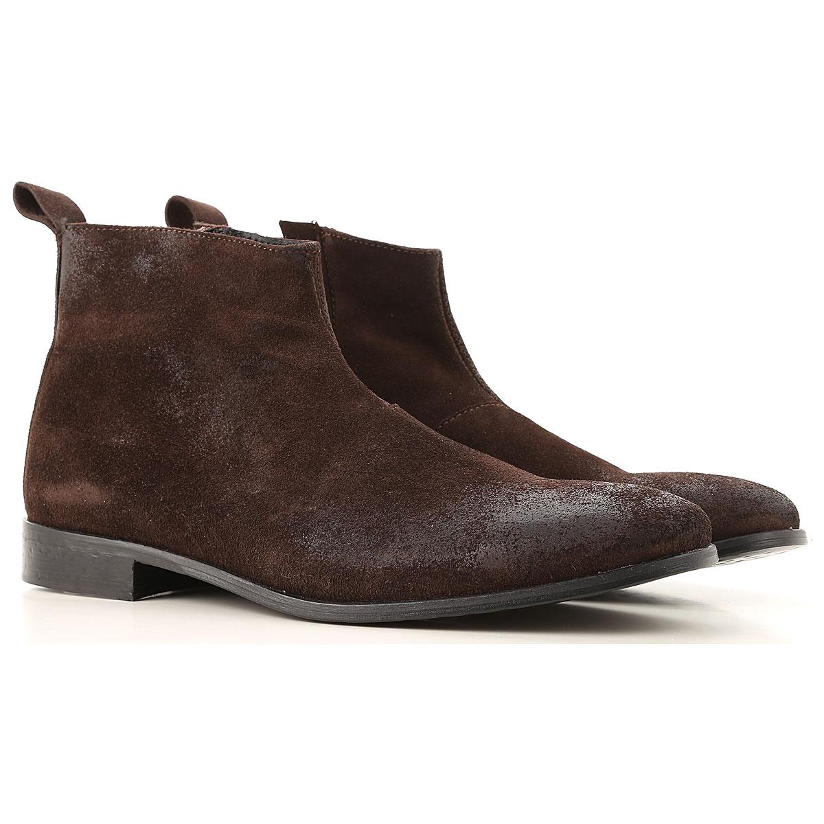 Daniele Alessandrini Desert Boots Chukka for Men On Sale, Dark Brown, Suede leather, 2019, 10 7.5 8 9