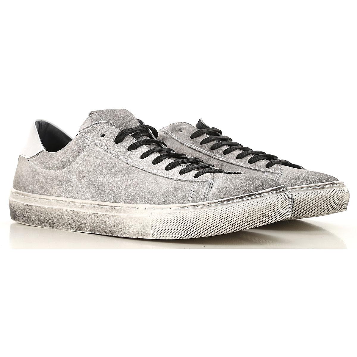 Daniele Alessandrini Sneaker Homme Pas cher en Soldes, Gris Sale, Daim, 2017, 40 41 42 44