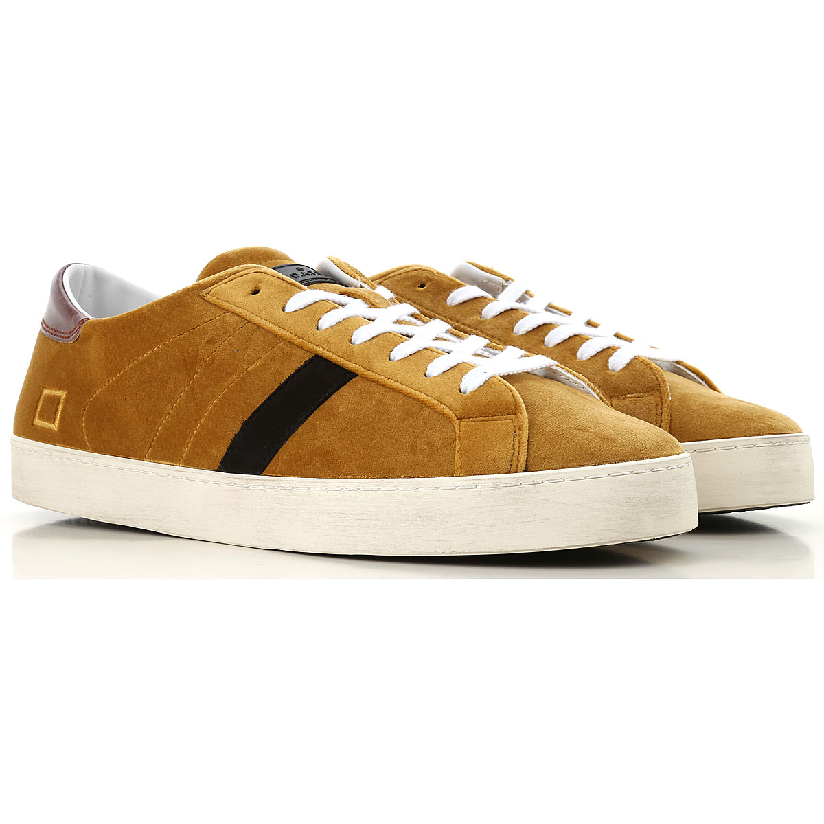 Image of D.A.T.E. Sneakers for Men, curry, Velvet, 2017, US 7 - EU 40 - UK 6 - JP 26 US 8 - EU 41 - UK 7 - JP 26.5 US 9 - EU 42 - UK 8 - JP 27 US 10 - EU 43 - UK 9 - JP 27.5 US 11 - EU 44 - UK 10 - JP 28 US 12 - EU 45 - UK 11 - JP 28.5