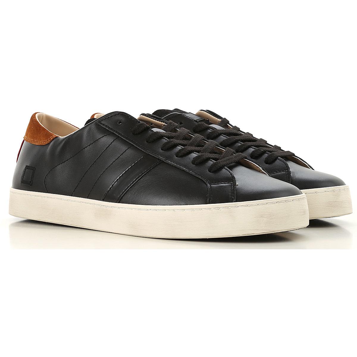 Image of D.A.T.E. Sneakers for Men, Black, Leather, 2017, US 7 - EU 40 - UK 6 - JP 26 US 8 - EU 41 - UK 7 - JP 26.5 US 9 - EU 42 - UK 8 - JP 27 US 10 - EU 43 - UK 9 - JP 27.5 US 11 - EU 44 - UK 10 - JP 28